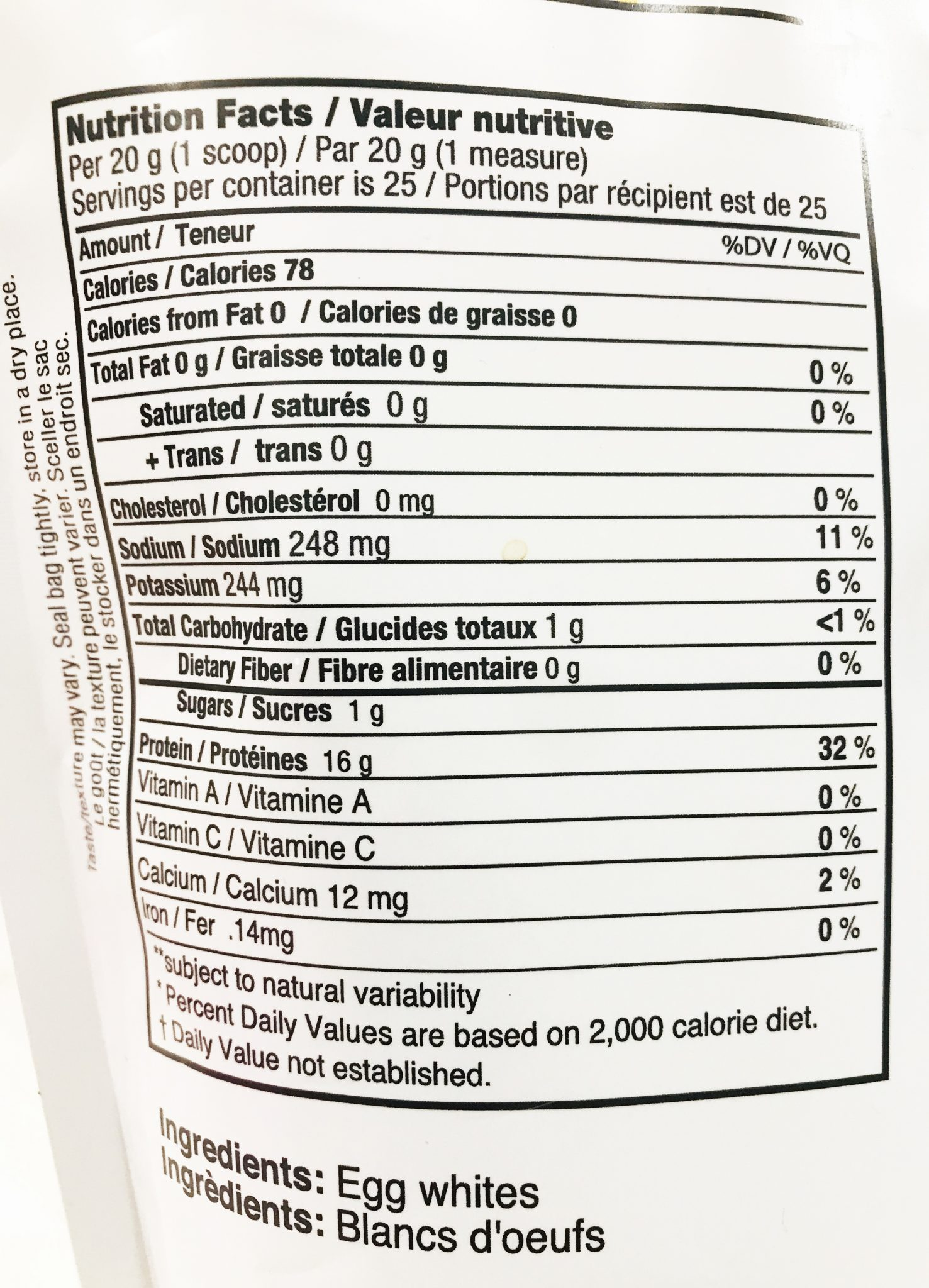 It is a graphic of Irresistible White Label Protein Powder